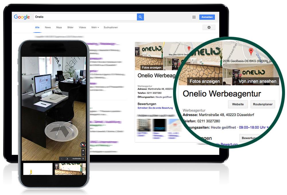 Virtueller Rundgang made by Onelio Werbeagentur Düsseldorf