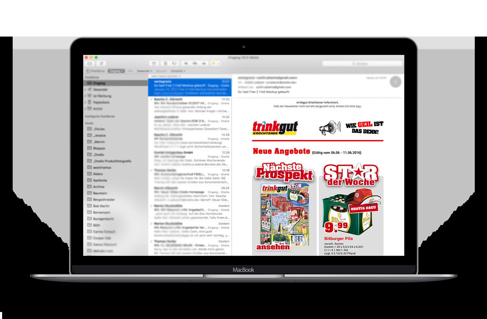 Email Marketing mit Newslettern made by Onelio Werbeagentur Düsseldorf