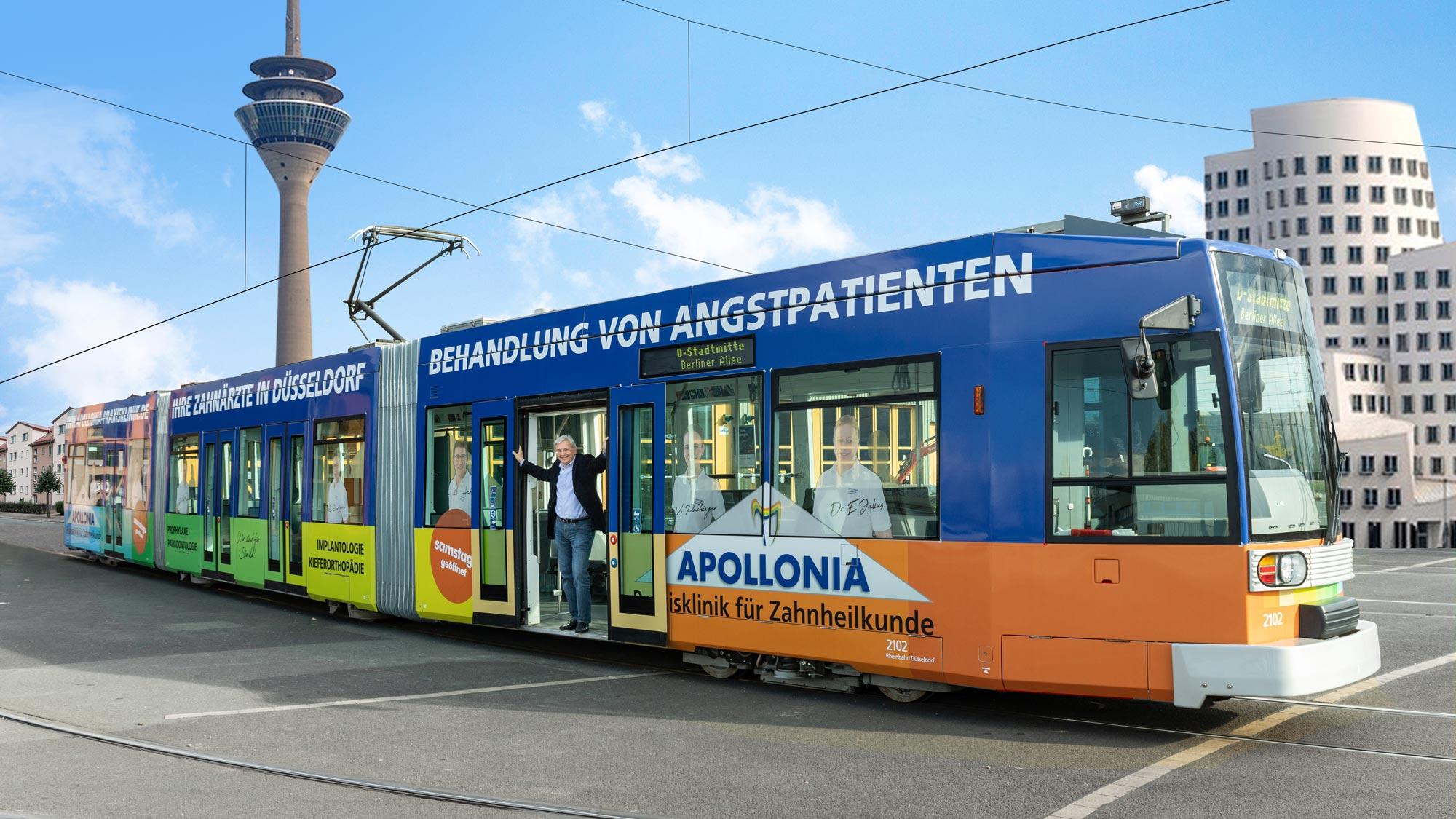 Straßenbahn Beklebung made by Onelio Werbeagentur Düsseldorf