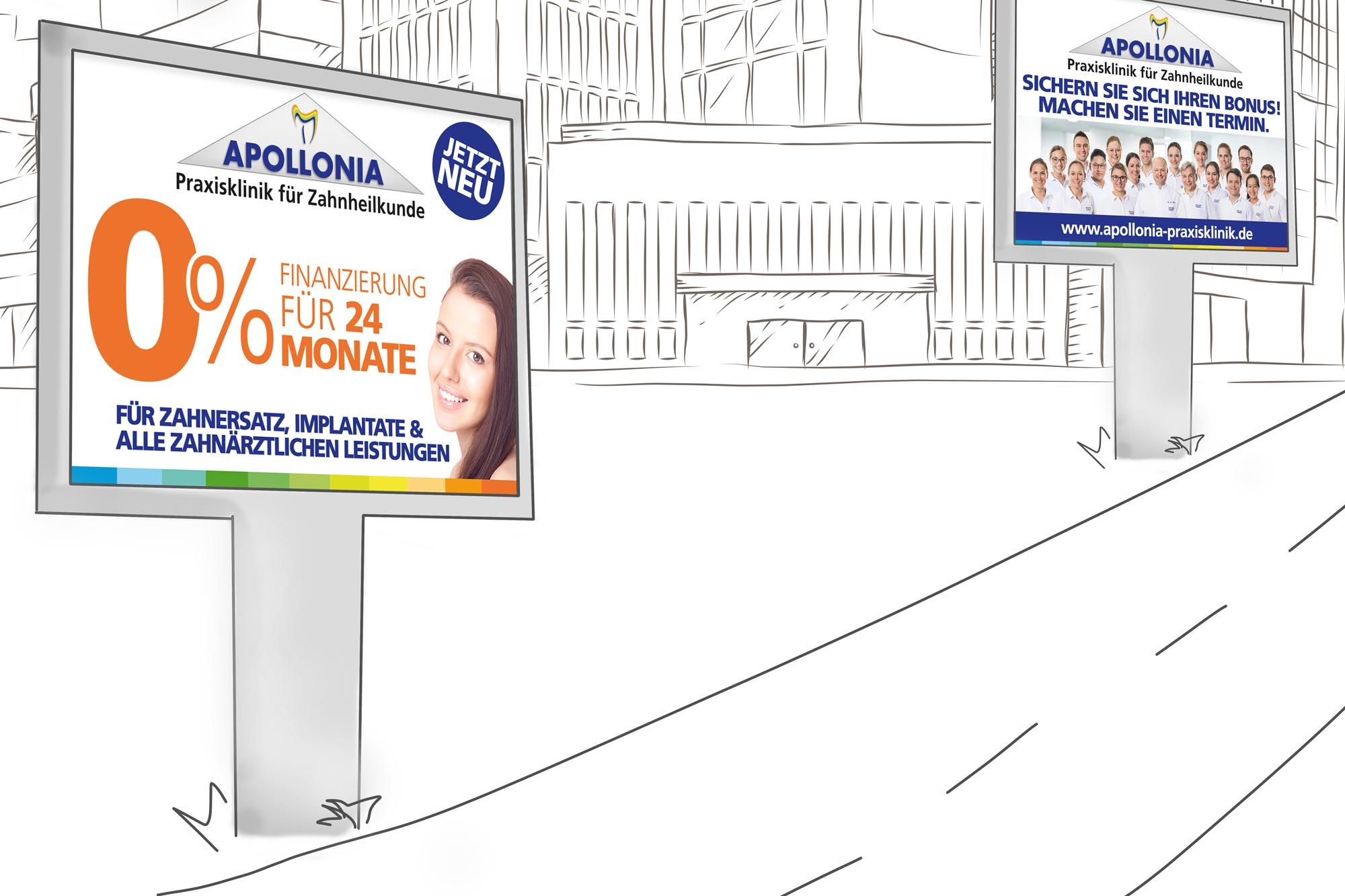 Weitere Printmedien für die Apollonia Praxisklinik made by Onelio