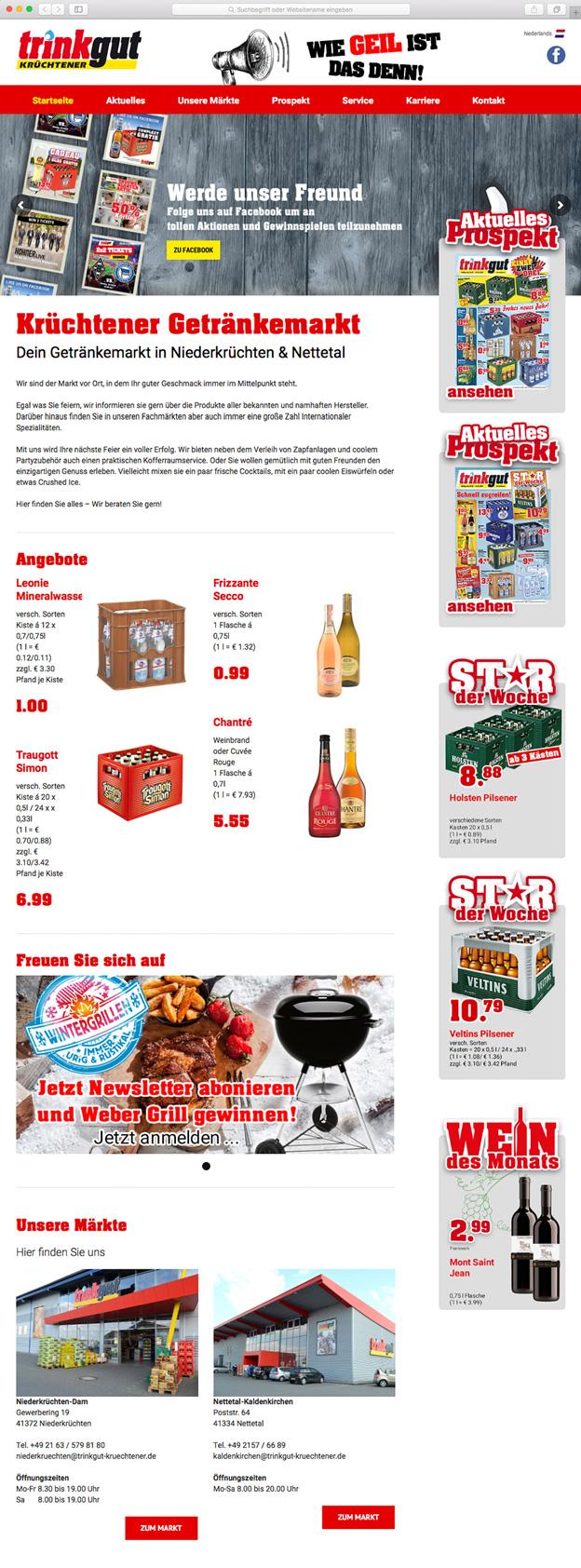 Trinkgut Krüchtener • Onelio Werbeagentur