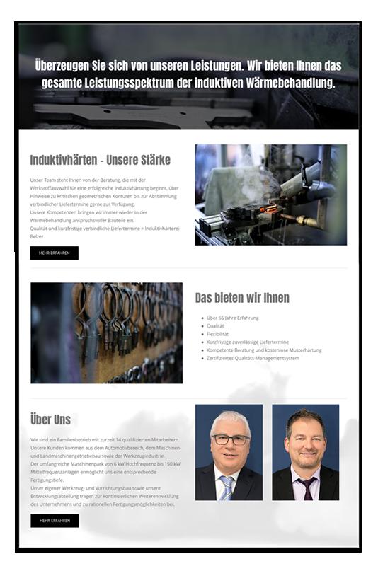 Responsive Webdesign für Belzer Solingen made by Onelio Werbeagentur Düsseldorf