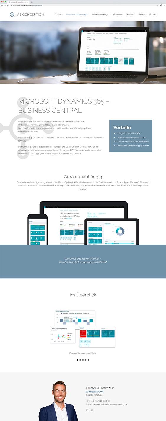 Responsive Website - Aufbau der Website made by Onelio Werbeagentur Düsseldorf