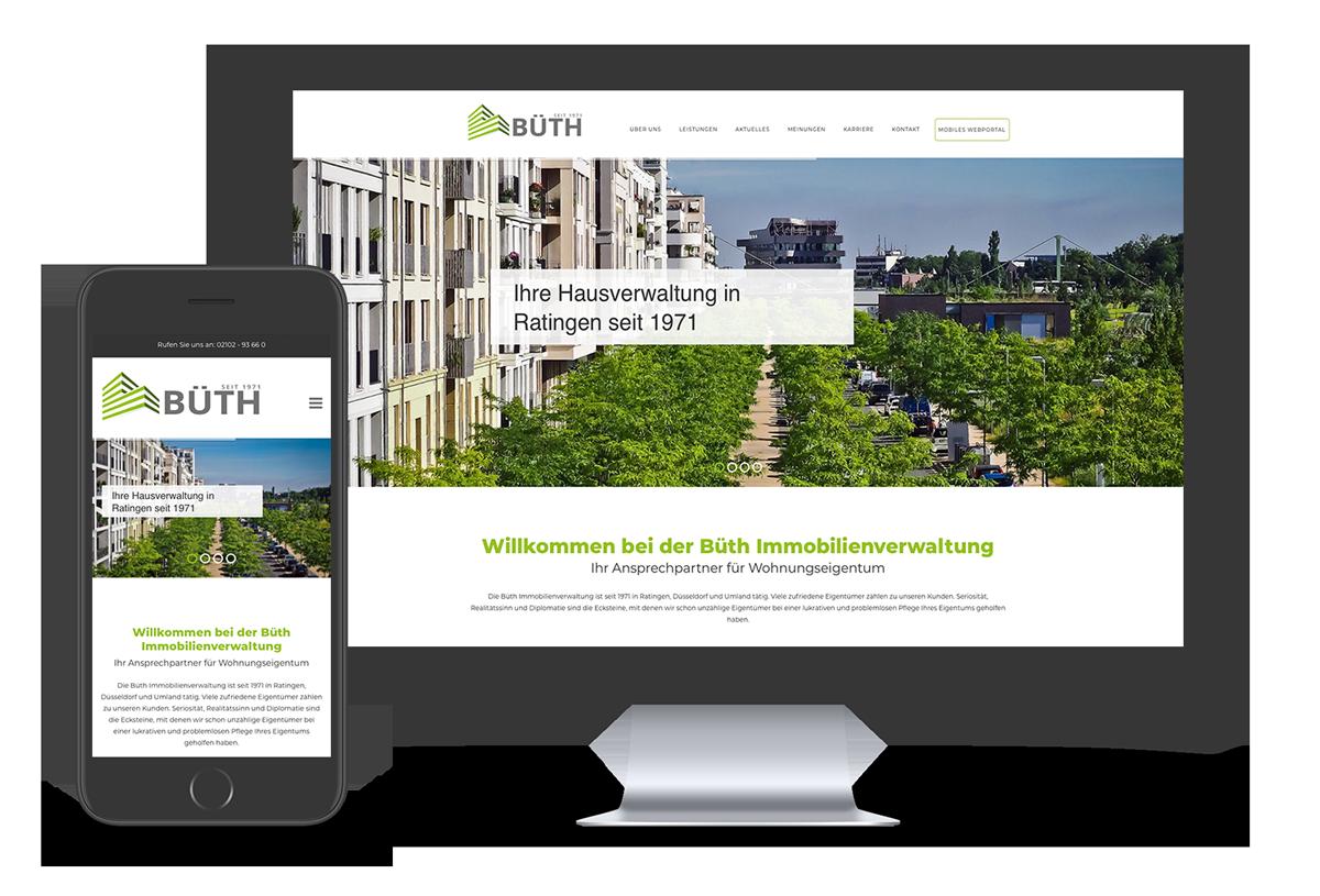 Responsive Webdesign für Büth made by Onelio Werbeagentur Düsseldorf