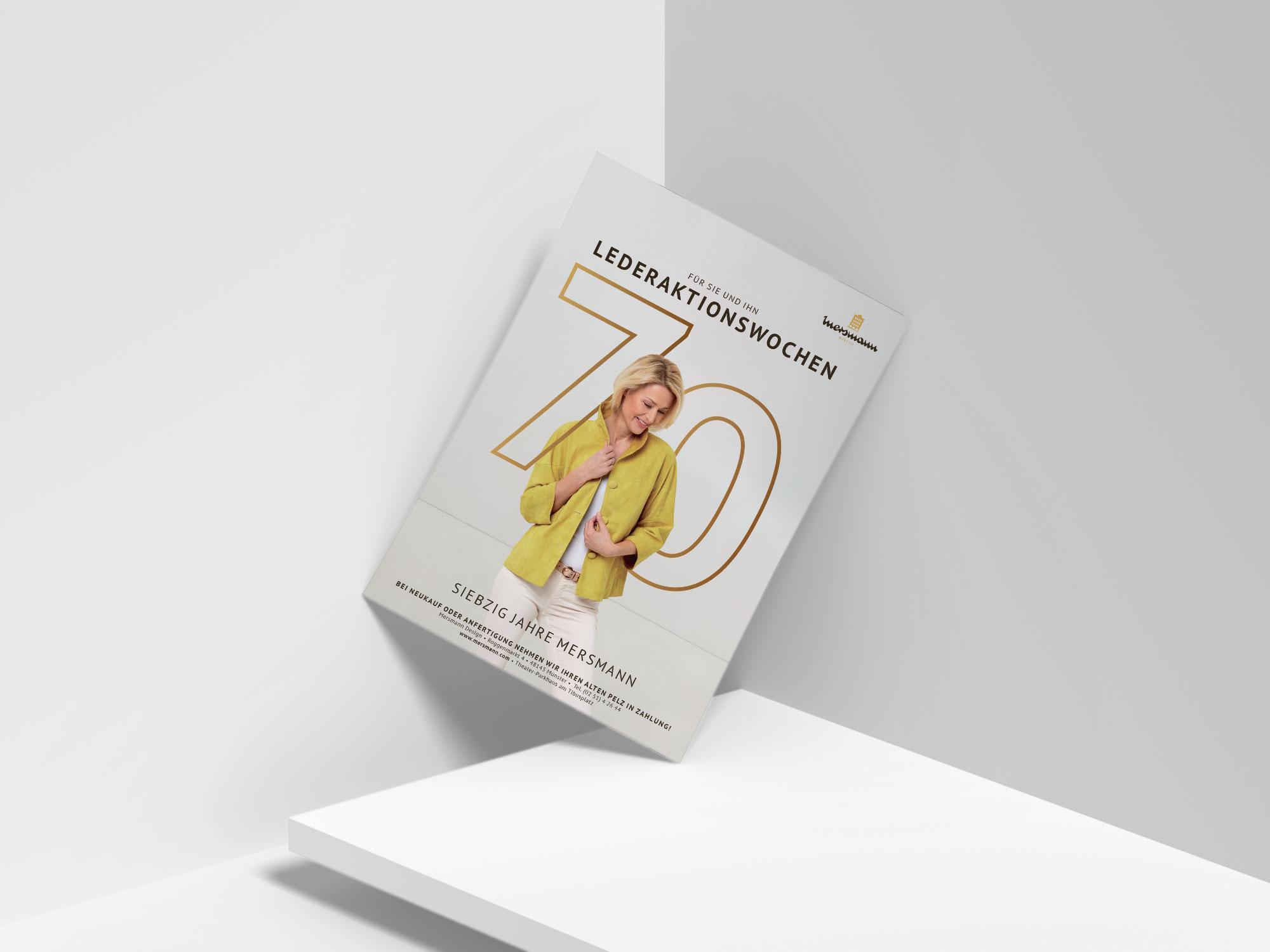 Printmedien zum Jubiläum von Mersmann made by Onelio Werbeagentur Düsseldorf