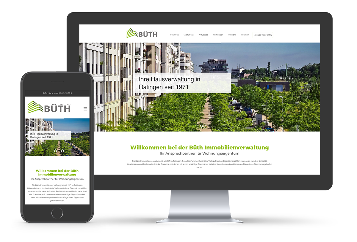 Corporate Design: Website made by Onelio Werbeagentur Düsseldorf
