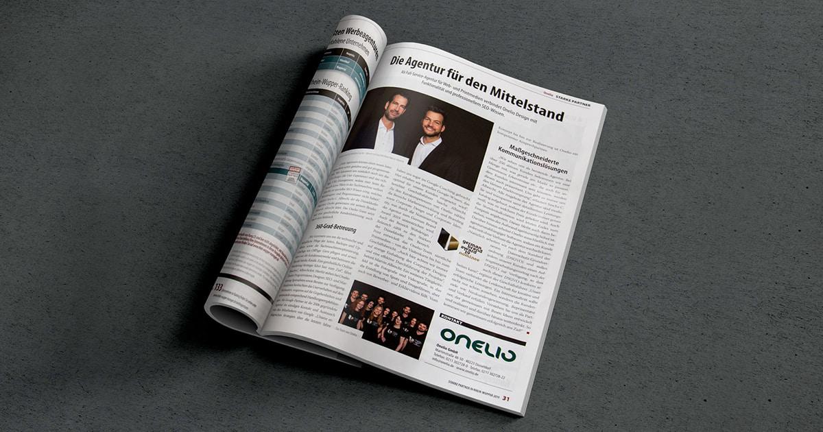 Onelio im Rhein-Wupper-Manager