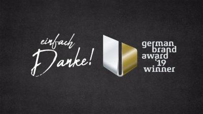 Wir sind German Brand Award '19 Winner!