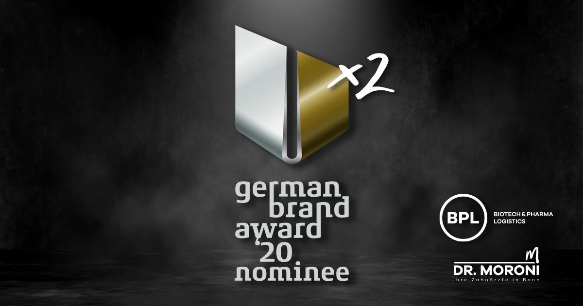 Onelio Werbeagentur: Wir sind German Brand Award Nominee - und zwar 2x!